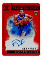 2019-20 Panini Impeccable Stainless Stars Red 48/60 RJ Barrett RC Rookie Auto