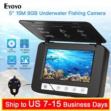 "5"" Inch 15M Underwater Fishing Camera with 8GB DVR Fish Finder IP68 Waterproof"