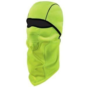 Ergodyne NFerno 6823 Lime Green Winter Ski Mask Balaclava Wind Resistant Thermal
