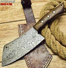 SFK CUTLERY CUSTOM HANDMADE FIXED BLADE DAMASCUS ART HUNTER CLEVER CHOPPER KNIFE