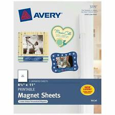 Avery Magnet Sheets, 8.5 x 11 Inches, White