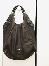 SALVATORE FERRAGAMO AUTHENTIC BROWN LEATHER HOBO BAG LIGHTLY USED