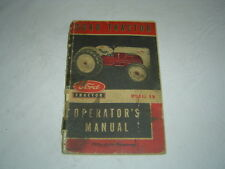 Ford model 8N tractor operator's manual