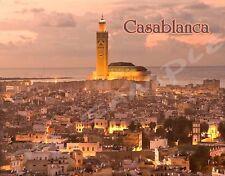 Morocco - CASABLANCA - Travel Souvenir Flexible Fridge Magnet