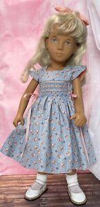 """Boneka Hand Smocked front & Back Cotton Dress 4 16"""" Sasha Morgenthaler Doll"""