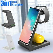 3 In1 QI Wireless Charger for Samsung S10/Samsung Watch /Galaxy Buds Dock Holder