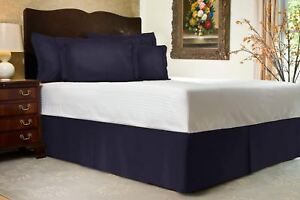 Harmony Lane Tailored Bed Skirt with Split Corners for Olympic Queen Bed Size