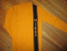 vtg MIDAS RACING STRIPE SWEATER Muffler Car Auto Repair 70s 80s Mechanic Knit XS