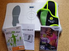 Wii Sport Paket mit Wii fit plus inkl. Balanceboard und Wii Zumba fitness Core