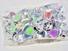 Rhinestone rings plastic (lot of 72) carnivals, toys, party favors. vending