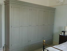 Painted 6 Door & 3 Drawer Wardrobe - Victorian Style with plinth