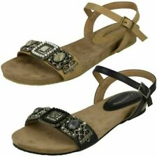 Ladies Leather Collection Flat Mule 'Sandals'