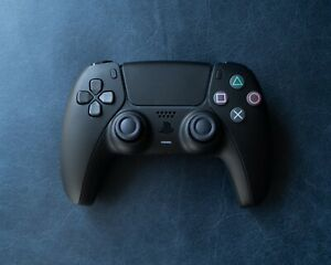 Playstation 5 Dualsense PS5 All Black Custom Wireless Controller - Brand New