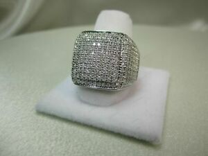2.50 Ct White Round CZ Wedding Finish Pinky Men's Ring in Solid 925 Silver New