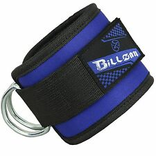 Ankle Strap D-ring Leg Pulley Weight Lifting Cable Attachment Blue Sports