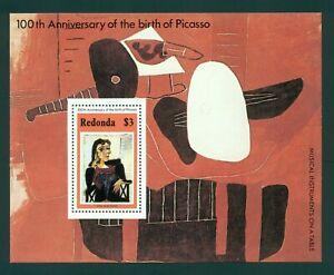 Redonda OS #2 MNH S/S Pablo Picasso's 100th Birth ANN $$