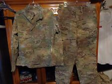 SET ISSUED USGI  MULTICAM SHIRT PANT US ARMY  SIZE  SMALLL SHORT  SS