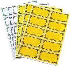TALA 60 X PRESERVING JAR LABELS FOR JAM,CHUTNEYS, JELLY ,FREEZER , SELF ADHESIVE