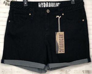 HYdraulic Womens Soft Denim Dark Wash Stretch Shorts Sz. 12 NEW