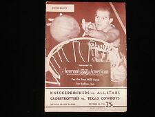 October 20, 1956 Knickerbockers vs. All-Stars, Globetrotters vs. Cowboys Program