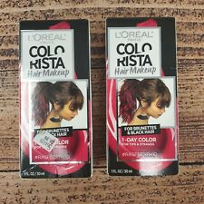 2 Loreal Paris Colorista Hair Makeup #Raspberry10 1-Day Color For Tips Strands
