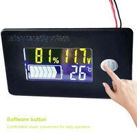 12V/24V/48V Batterie Kapazität Blei-Säure LCD Digitaler Anzeige Tester Voltmeter