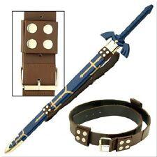 Medieval Brown Back Hanger Baldric Sword Belt quality leather zelda link cosplay