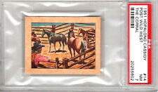 1951 HOPALONG CASSIDY # 14-POST WILD WEST,THE CORRAL-PSA 7++++++RARE BEAUTY !