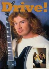 Megadeth Dave Mustaine UK 'Guitarist' Int. Clipping OBLIQUE