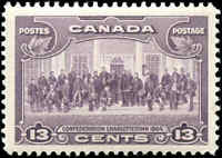 Mint H Canada 1935 F-VF Scott #224 13c Pictorial Issue Stamp