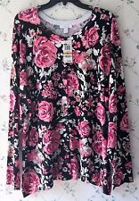 Macy's Charter Club Womens Plus 3X Button Down Embellished Floral Sweater NWT