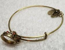 GOLD Alex and Ani Rhinestone Royal Queens Crown Bracelet
