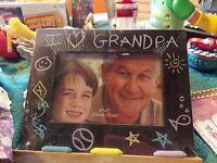 "Photo Frame Self Standing ""I Love Grandpa"" New in Package"
