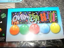 """Over the Hill Birthday 35"""" Banner with balloons Party Decorations & Supplies"""