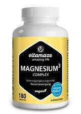 (€8,07/100g) Magnesium ³ Komplex Tabletten für Muskelaufbau & Knochen vegan