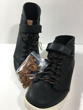 TEVA WILLOW CHUKKA SHOES BLACK LEATHER MID TOP SNEAKERS WOMENS 9 New no box