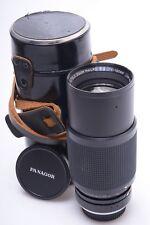 PENTAX K-MOUNT PANAGOR 75-150MM 4 MACRO TELE PMC AUTO ZOOM LENS W/ CAPS & CASE
