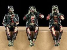 Zombie Kantenhocker - 3er Set - Gothic Untote Figuren Deko Lustig