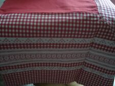 NAPPE CARRE CAMPAGNE VICHY ROUGE EFFET DENTELLE 180X180 100% COTON NEUF