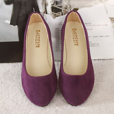 Womens Ballerina Ballet Dolly Pumps Slip On Flat Boat Loafers Shoes Size PUMPS