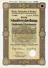 KSB Klein Schanzlin & Becker AG 1943 Frankenthal Pegnitz 500 RM AMAG Hilpert ##