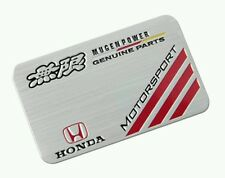 3D Laxury Honda Genuine Motorsport Aluminium Emblem Badge Sticker Decal Logo Car