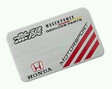 3D Laxury Honda Genuine Motorsport Aluminium Emblem Badge Sticker Decal Logo Car