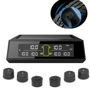 TPMS Tire Accessories LCD Tyre Pressure Monitoring System &6x External Sensors