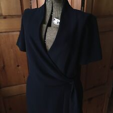Jones New York Black Wrap Tie Dress Size 12