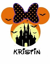 ********DISNEY MINNIE MOUSE HALLOWEEN***PERSONALIZED SHIRT IRON ON TRANSFER