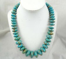 Beautiful Natural turquoise Handmade Gemstone Jewellery Necklace  TN6