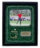 Tiger Woods 2019 Masters Champion Framed 8x10 Photo w Engraved Masters Logo & NP