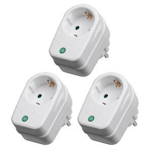 3x Überspannungsschutz Zwischenstecker Steckdose Blitzschutz Kindersicherung