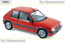 Peugeot 205 GTI 1.6 de 1988 Vallelunga Red NOREV - NO 184853 -- Echelle 1/18
